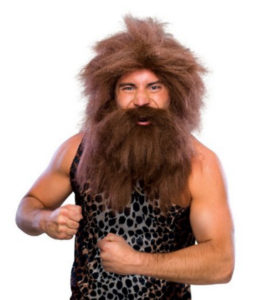 Dress Up Caveman Beard and Wig