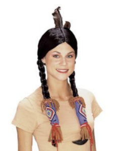 Adult Indian Fancy Dress Up Wig