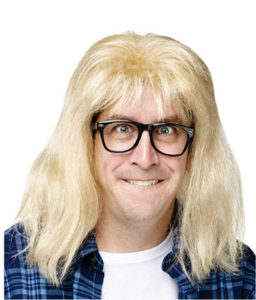 Funny Garth Wig And Glasses Dress Up