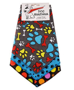 Bone and Paw Print Dog Bandana