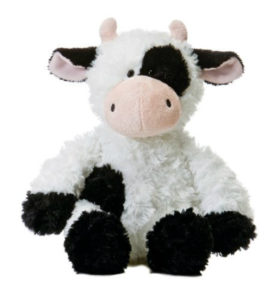 cute cuddly cow toy