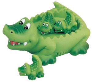 Crocodile Bath Toy - Floating Device