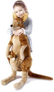 Giant plush kangaroo toy