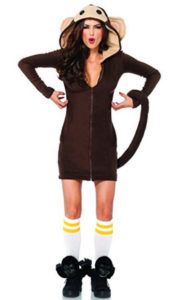 Women's Cozy Monkey Costume