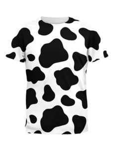 cow pattern costume shirt