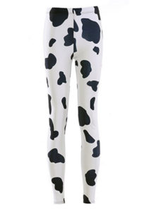 cow pattern leggings costume