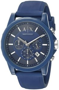armani exchange blue watch