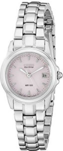citizen eco drive pink watch