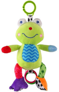 fun car seat frog toy