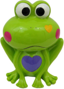 frog money bank for girls