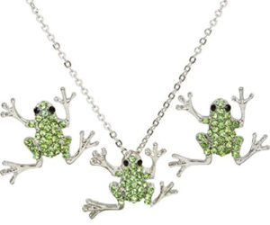 frog jewelry necklace set