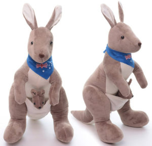 Cute kangaroo plush toy