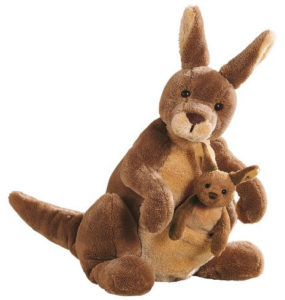 cuddly kangaroo plush toy