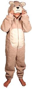 kids bear onesie costume