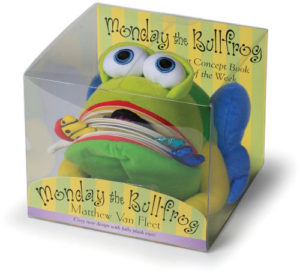 huggable frog storybook toy