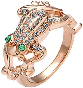 rose frog ring jewelry