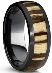 Zebra Wood Ring Jewelry