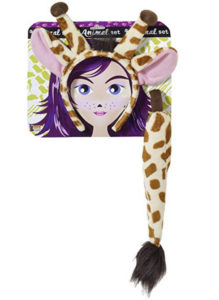 giraffe ears and tail costume headband