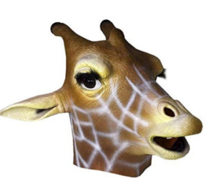 giraffe mask costume
