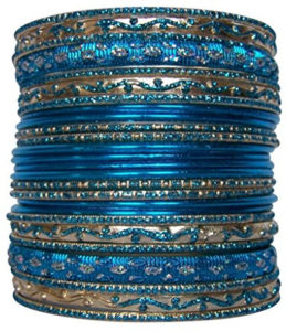 Set of 26 blue bracelets
