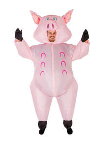 inflatable pig costume for adults