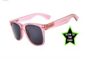 pink sunglasses that glow in the dark