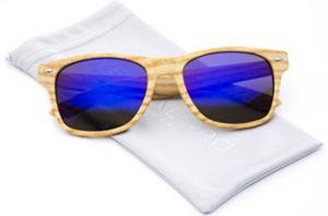 wood womens blue sunglasses