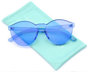 transparent blue sunglasses