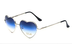 heart shaped blue womens sunglasses