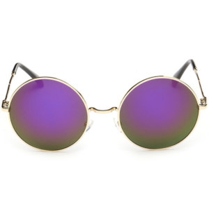 rounded purple women sunglasses