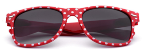 red polka dot sunglasses for women