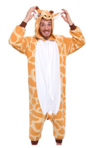 giraffe costume onesie for adults