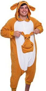 Adorable adult kangaroo onesie