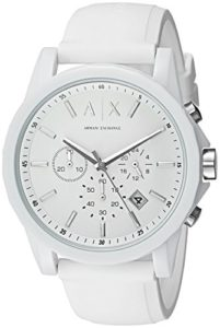 armani exchange white watch