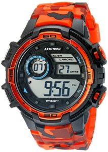 armitron orange watch