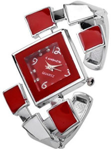 bangle cuff red watch
