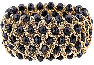Black and gold bracelet for women