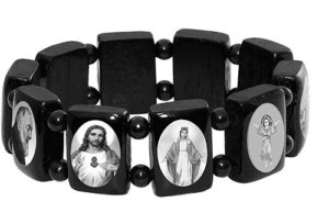 Black catholic saints bracelet