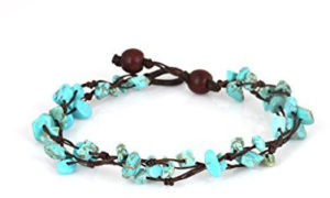 Beautiful blue anklet bracelet