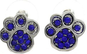 blue paw earrings