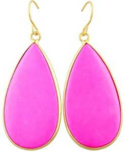 bright pink stone earrings