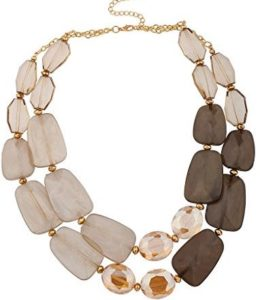 brown statement necklace