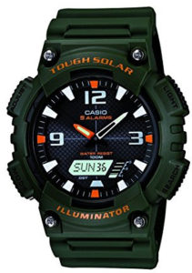 casio green watch