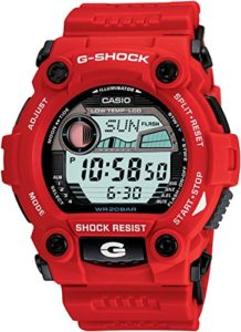 casio red watch