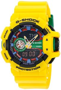 yellow casio watch