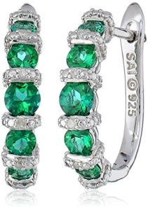 green diamond hoops