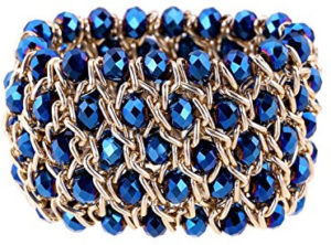 Bold gold and blue bracelet