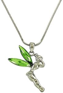 green tinkerbell necklace