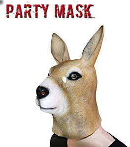 Latex kangaroo head mask