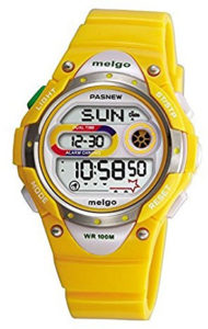 kids sports yellow watch